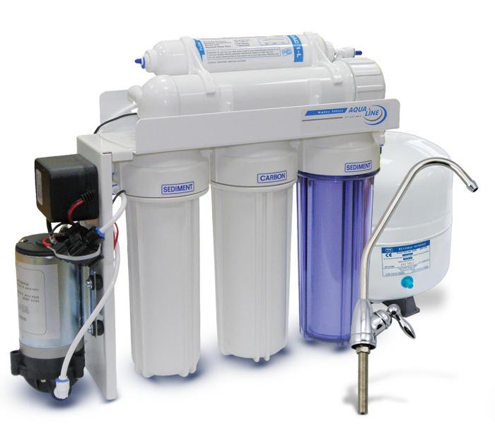 Купить систему обратного осмоса Aqua Line RO5 Pump с насосом цена