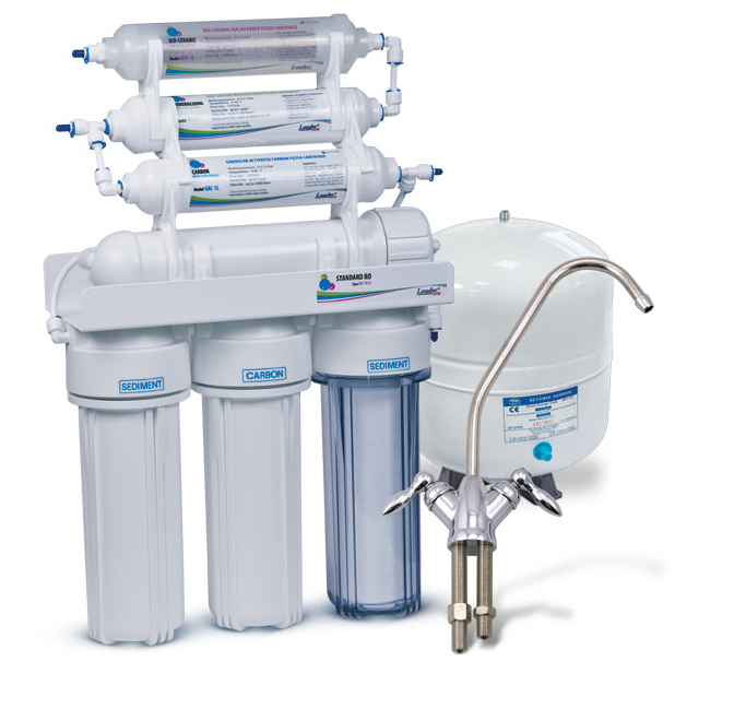 Купить систему обратного осмоса leader ro6 bio с биокерамикой и минерализатором