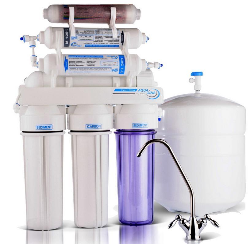 Фильтр обратный осмос aqualine ro-6 bio купить в Киеве