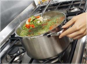 приготовление еды на городской воде
