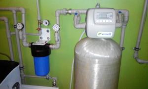 Очистка воды из скважины от железа наши работы