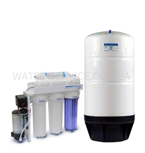Купить питьевой фильтр для коллектива Aqualine RO5 100 GPD с баком на 50 литров