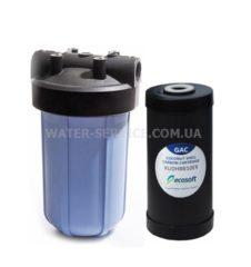 Купить магистральный угольный фильтр Ecosoft BB10 GAC. Цена
