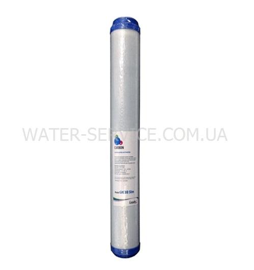 Купить картридж для фильтра воды LEADER BB20 Slim GAC угольный